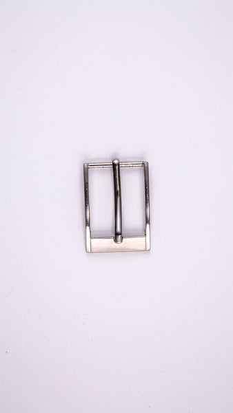 "Chrome Rectangular 1.1"" Buckle - Worldbelts Ltd"