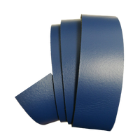 Blue Leather Clamp Strap - Worldbelts Ltd