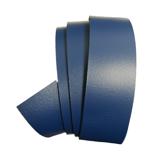 Blue Leather Clamp Strap