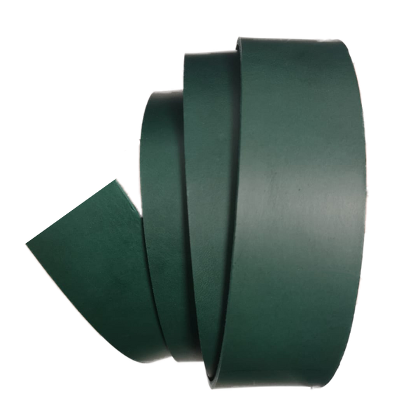 Green Leather Clamp Strap - Worldbelts Ltd