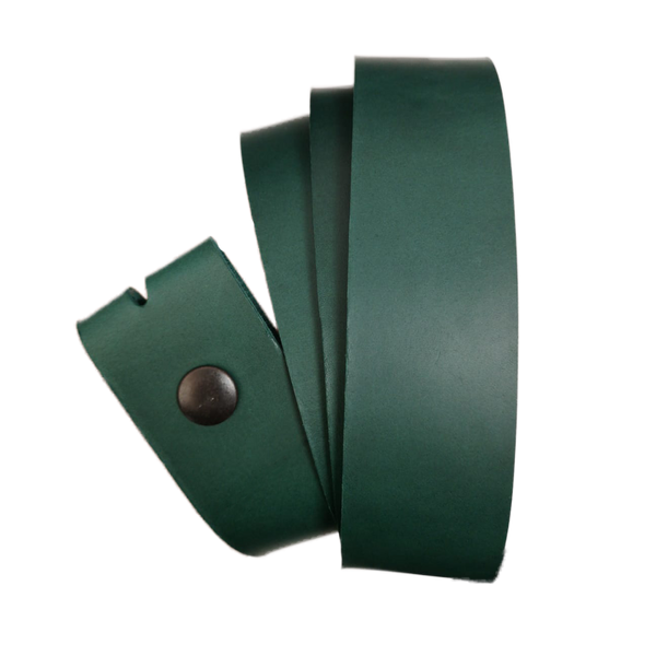 Green Leather Press Stud Strap - Worldbelts Ltd