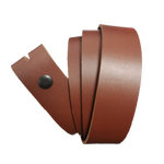 Medium Brown Leather Press Stud Strap - Worldbelts Ltd