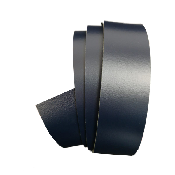 Navy Blue Leather Clamp Strap - Worldbelts Ltd