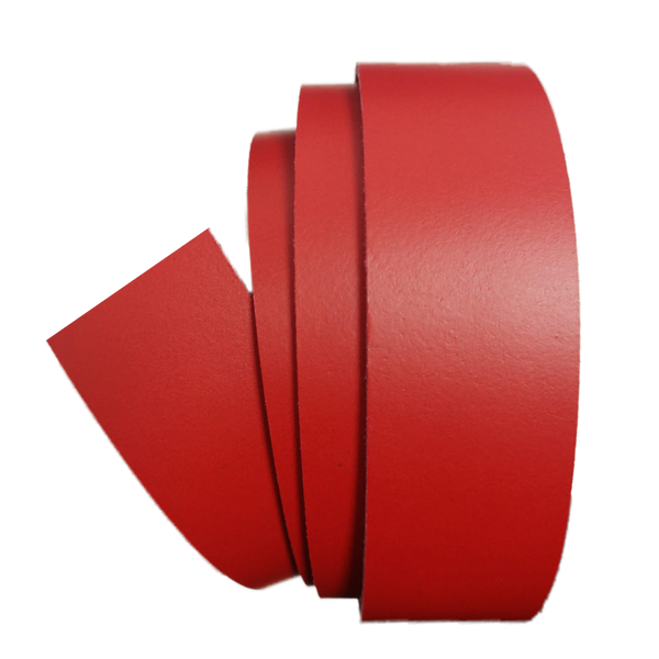 Red Leather Clamp Strap - Worldbelts Ltd