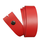 Red Leather Press Stud Strap - Worldbelts Ltd