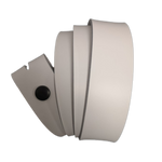White Leather Press Stud Strap - Worldbelts Ltd