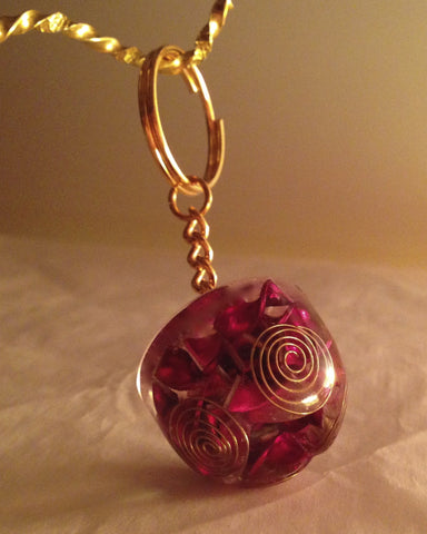 Pink Heaven On Earth orgone keyring