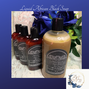 Hand-poured Liquid African Black Soap
