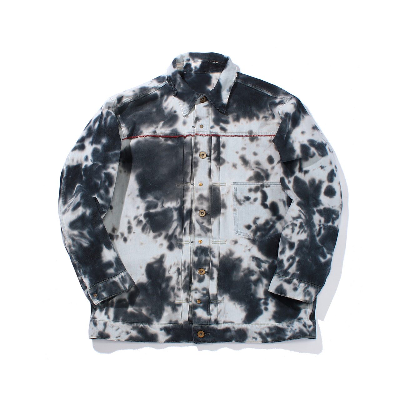 Tie Dye Reversible Denim Jacket