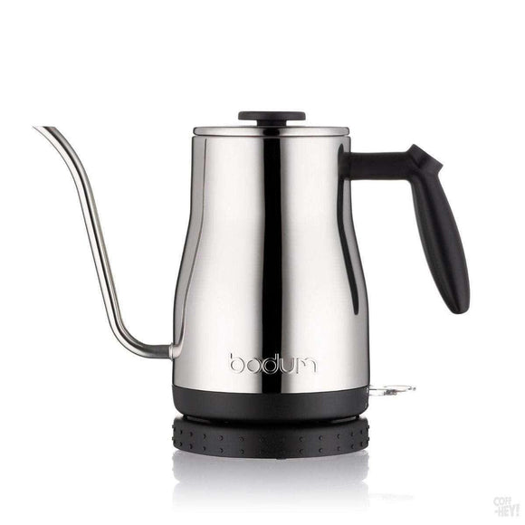 Bodum Bistro Gooseneck Water Kettle - Silver S/S 1L, 32oz-Coffee Brewing-Bodum-Coff-Hey!