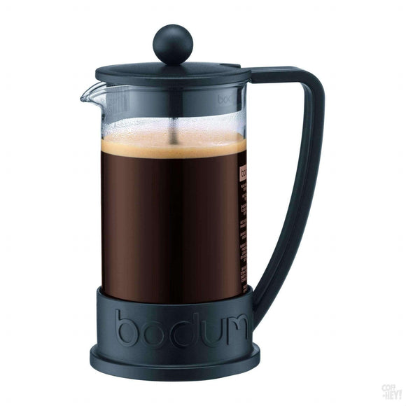 Bodum Brazil French Press Coffee Maker, 3 Cup, 0.35 L, 12 oz - Black-Coffee Brewing-Bodum-Coff-Hey!