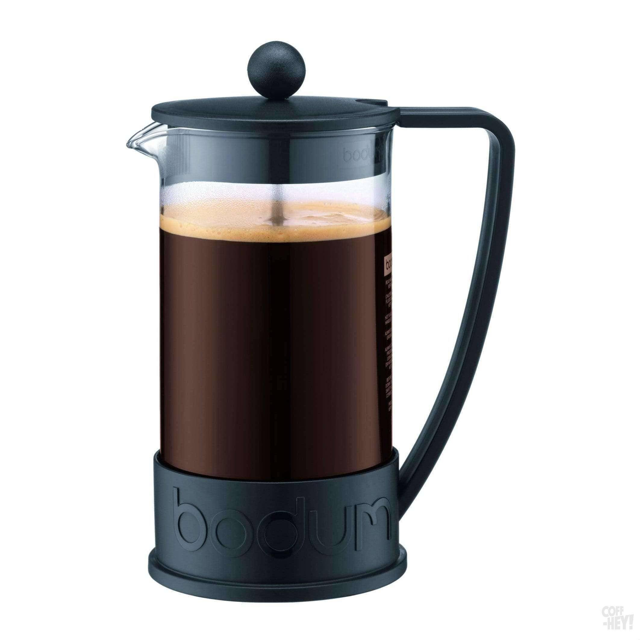 Bodum Brazil French Press Coffee Maker, 8 Cup, 1.0 L, 34 oz - Black-Coffee Brewing-Bodum-Coff-Hey!