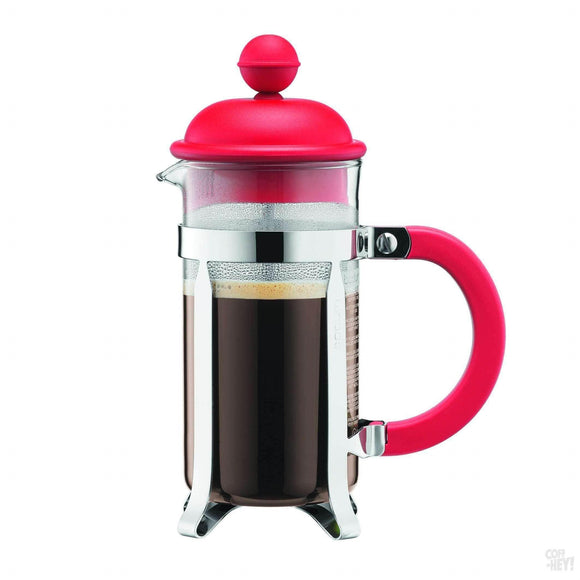 Bodum Caffettiera Coffee Maker, 3 Cup, 0.35 L, 12 oz - Red-Coffee Brewing-Bodum-Coff-Hey!