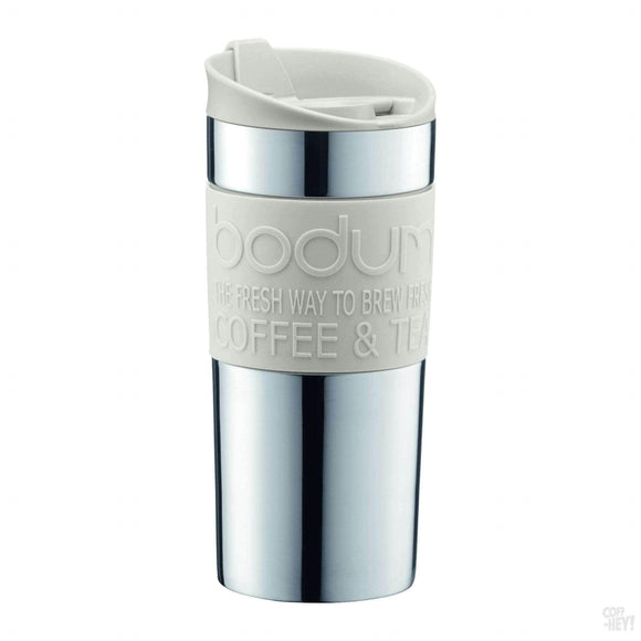 Bodum Travel Mug, 0.35 L, 12oz - S/S, Off White-Drinkware-Bodum-Coff-Hey!