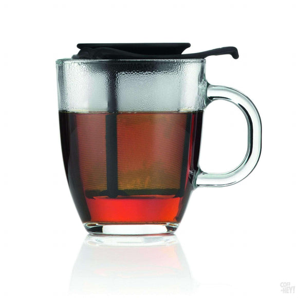 Bodum Yo-Yo Set Mug and Tea Strainer, 0.35 L, 12 oz - Black-Coffee Brewing-Bodum-Coff-Hey!