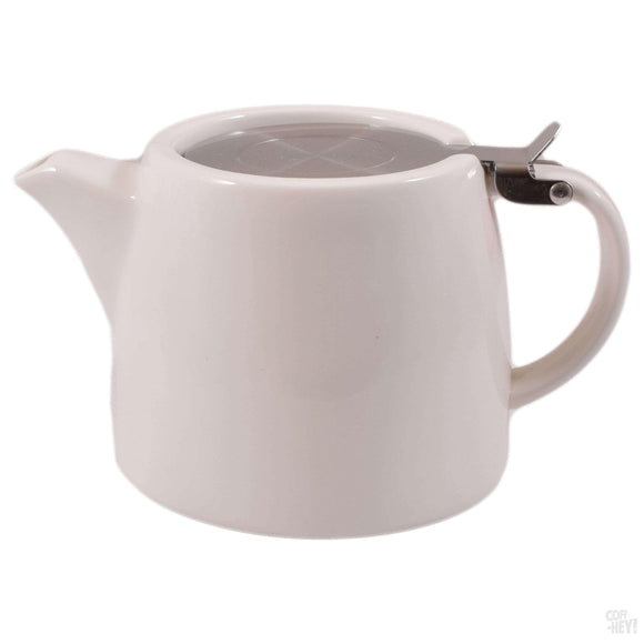 Economy Stackable Teapot with Removable Stainless Steel Infuser - Cream-Tea Brewing-Coff-Hey!-Coff-Hey!
