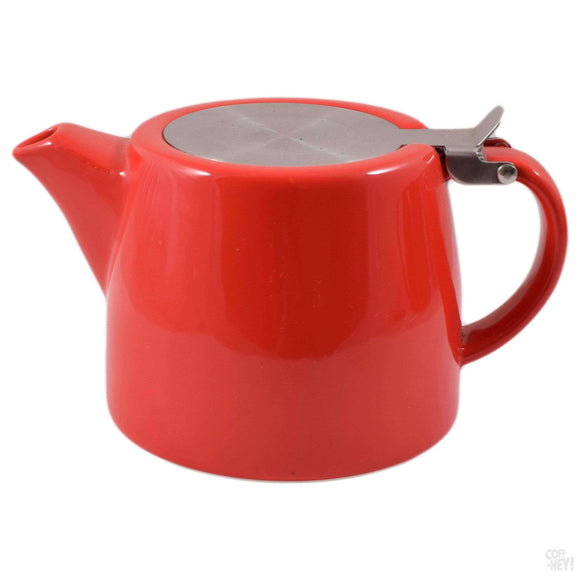 Economy Stackable Teapot with Removable Stainless Steel Infuser - Red-Tea Brewing-Coff-Hey!-Coff-Hey!