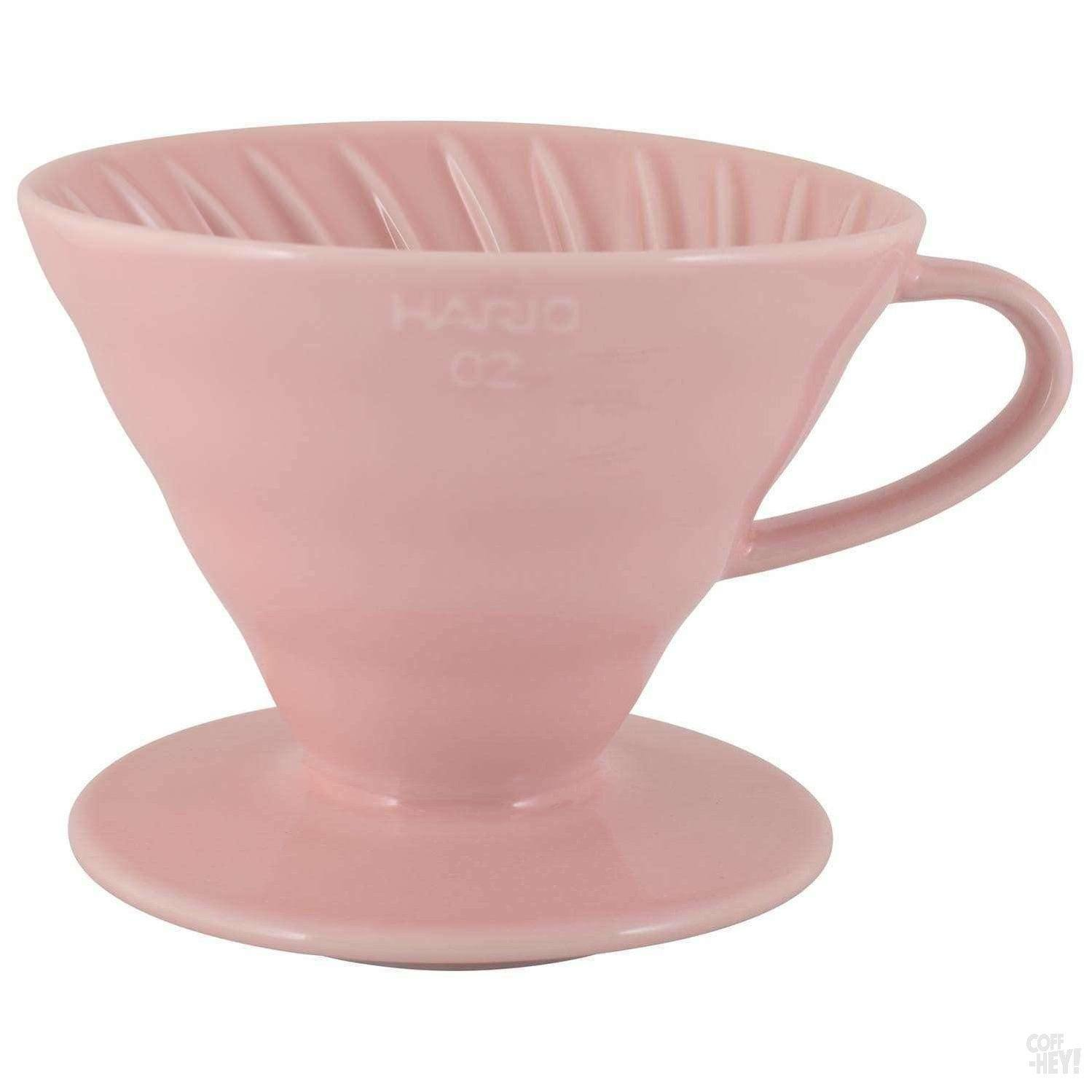 Hario Special Edition V60 02 Ceramic Dripper - Pink-Coffee Brewing-Hario-Coff-Hey!