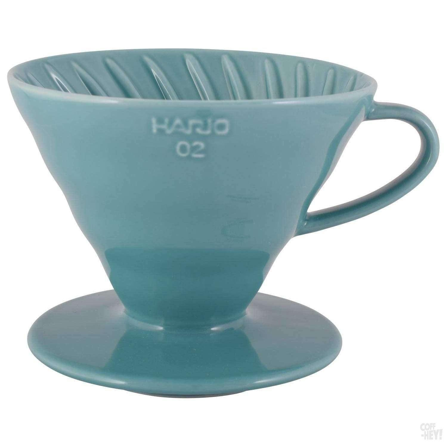 Hario Special Edition V60 02 Ceramic Dripper - Turquoise-Coffee Brewing-Hario-Coff-Hey!