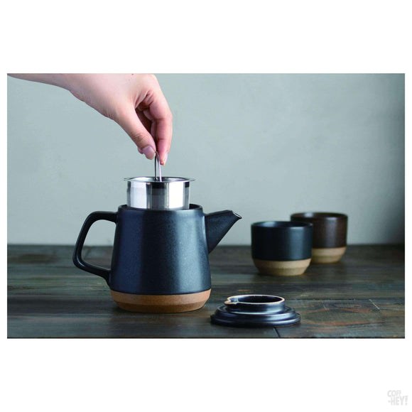 Kinto CLK-151 Teapot 500ml Black-Coffee Brewing-Kinto-Coff-Hey!