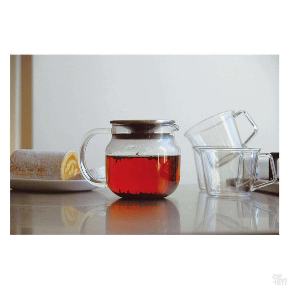 Kinto One Touch Teapot 450ml Black Lid-Tea Brewing-Kinto-Coff-Hey!