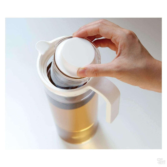Kinto Plug Iced Tea Jug White-Coffee Brewing-Kinto-Coff-Hey!