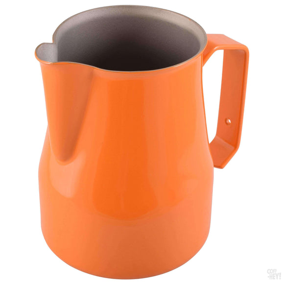 Motta 350ml Teflon Foaming Jug - Orange-Coffee Brewing-Motta-Coff-Hey!
