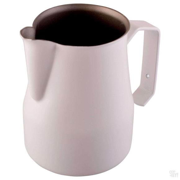 Motta 350ml Teflon Foaming Jug - White-Coffee Brewing-Motta-Coff-Hey!