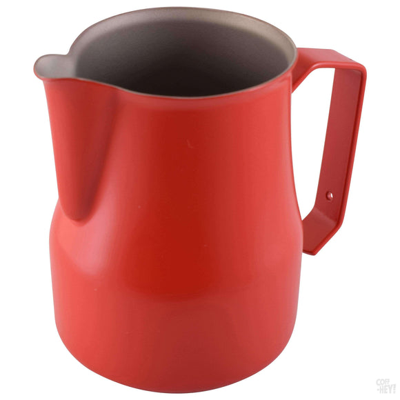 Motta 500ml Teflon Foaming Jug - Red-Coffee Brewing-Motta-Coff-Hey!
