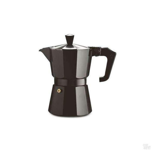 Pezzetti Italexpress Aluminium Moka Pot - 3 Cup Black Enamel-Coffee Brewing-Pezzetti-Coff-Hey!