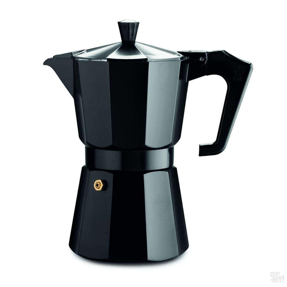 Pezzetti Italexpress Aluminium Moka Pot - 6 Cup Black Enamel-Coffee Brewing-Pezzetti-Coff-Hey!