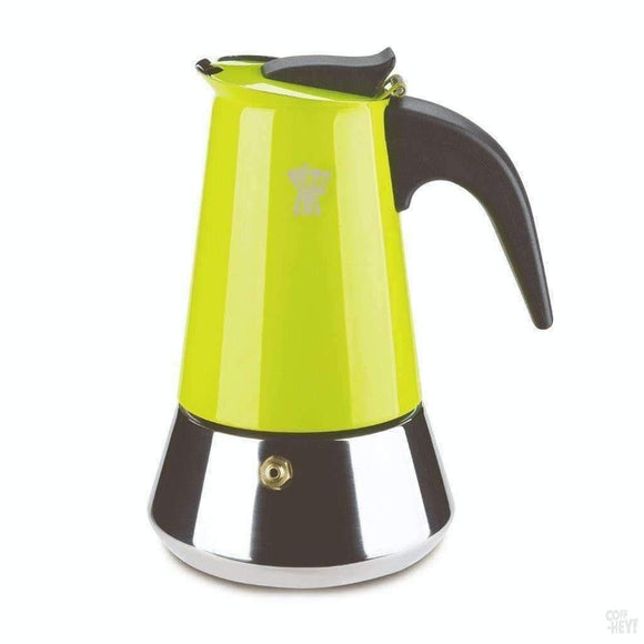 Pezzetti Steelexpress Moka Pot - 6 Cup Green-Coffee Brewing-Pezzetti-Coff-Hey!