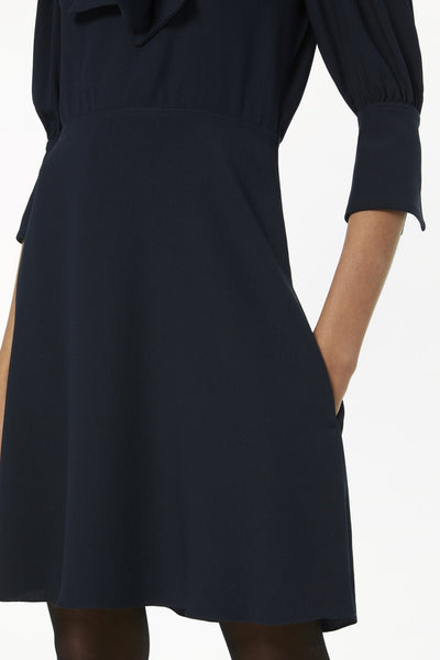 VVB SCARF NECK FLUID CADY MINI DRESS