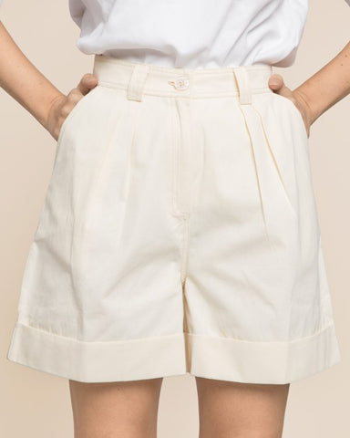 BY TIMO Structured Cotton Shorts