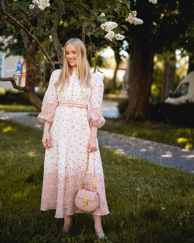 ZIMMERMANN Carnaby Ditsy Long Dress