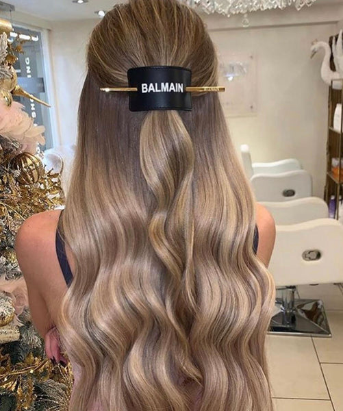 BALMAIN HAIR BARRET SVART