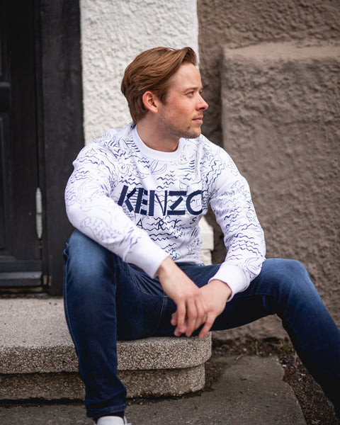 KENZO ALL OVER PRINTED SWEAT