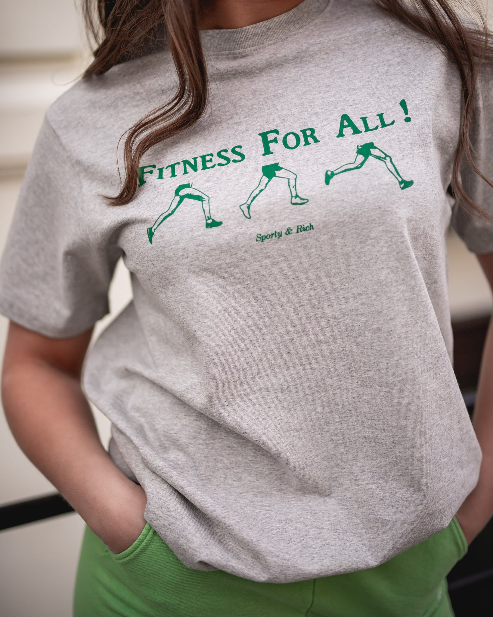SPORTY & RICH Fitness For All T-Shirt