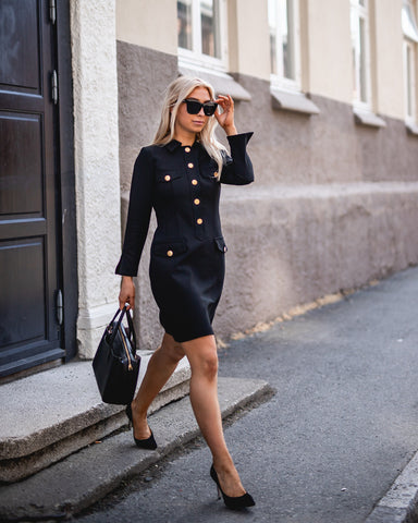 BYTIMO Tailored Mini Blazer Dress