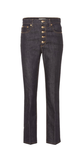 Tory Burch Button Fly Denim Pant