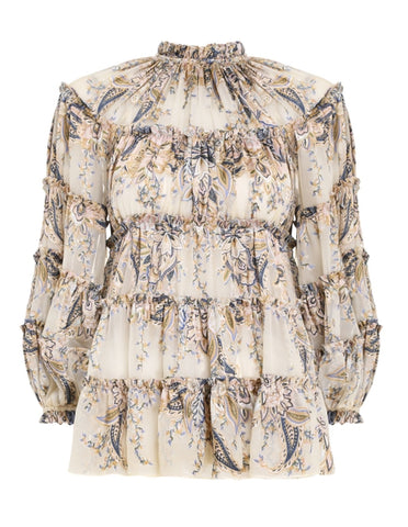 ZIMMERMANN Ladybeetle Burnout Blouse
