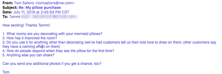 Interview questions - Mermaid Pillow Co
