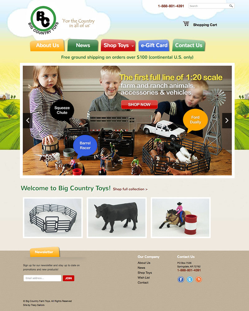 BC Farm Toys | TracySailors.com Portfolio | Shopify Developer