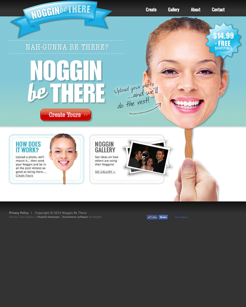 Noggin' Be There - Portfolio | TracySailors.com Portfolio | Shopify Developer