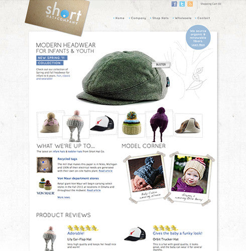 Short Hats | TracySailors.com Portfolio | Shopify Developer