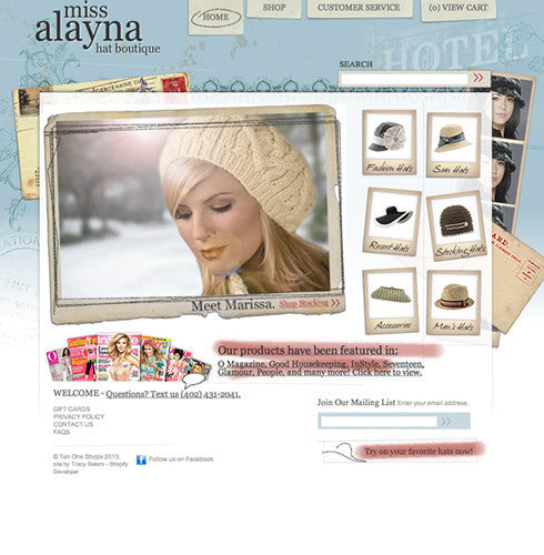 Miss Alayna | TracySailors.com Portfolio | Shopify Developer