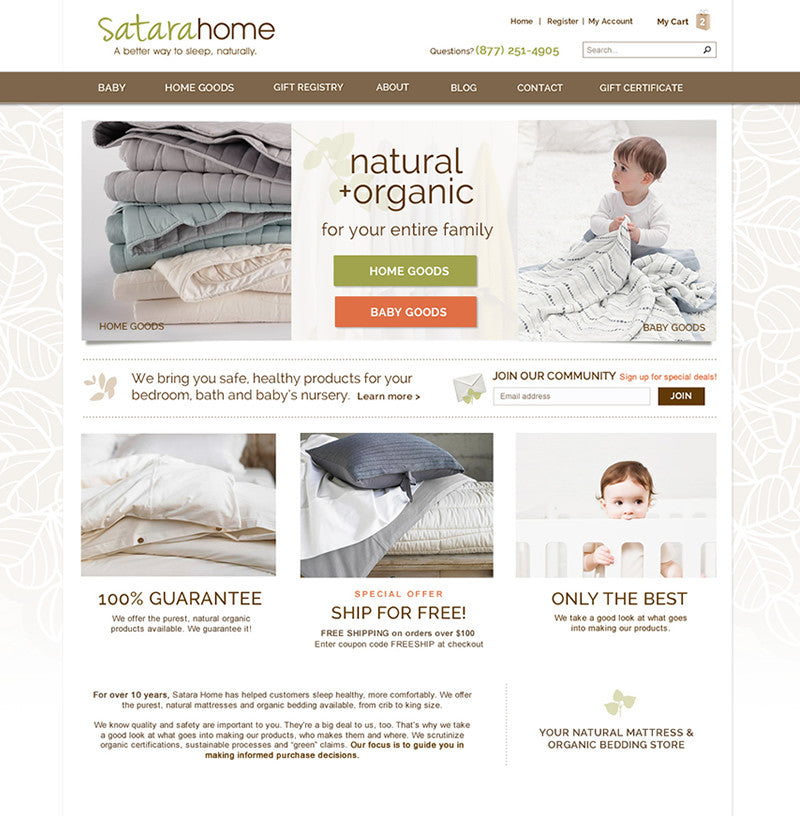 Satara Home | TracySailors.com Portfolio | Shopify Developer