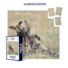 Load image into Gallery viewer, Derek Hough - 54 Card Puzzle with PIPS - Animal Kisses