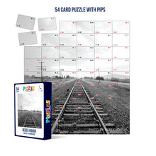 Load image into Gallery viewer, Derek Hough - 54 Card Puzzle with PIPS - Tracks to Anywhere