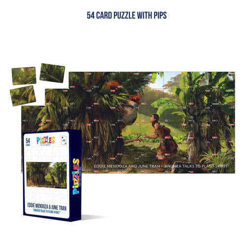 HumaNature Studios - Anuhea Talks To Spirit Plant, 54 Card Puzzle With Pips